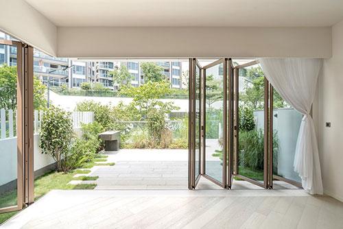 Glasfaltwände Wohnen Wohnraum Terrasse Licht